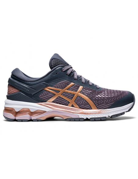 Zapatilla Asics Gel Kayano 26 Mujer Running Gris Oscuro/rose Gold  1012a457-022