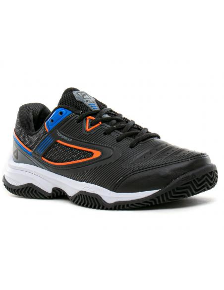 Zapatilla Fila Hombre Tenis-padel Topspin 3.0 Negro/azul/naranja 874386